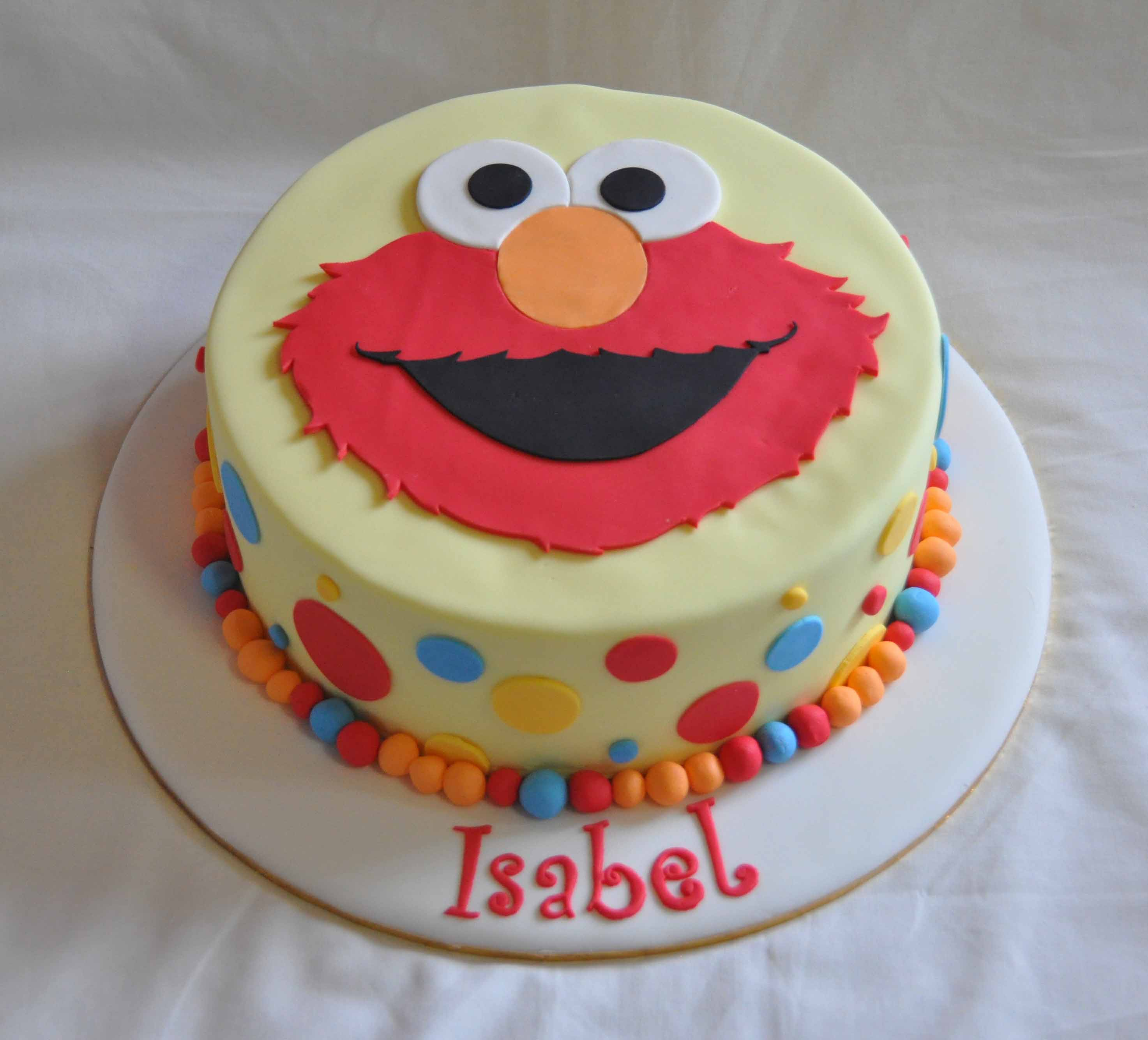 Elmo Birthday Cake Template