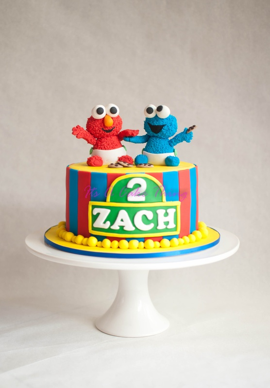 baby cookie monster cakes